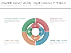 Complete Survey Identify Target Audience Ppt Slides