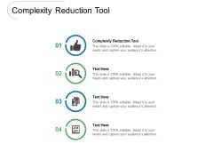 Complexity Reduction Tool Ppt PowerPoint Presentation Summary Samples Cpb Pdf