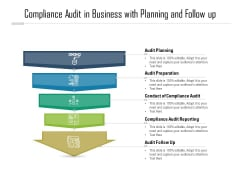 Compliance Audit In Business With Planning And Follow Up Ppt PowerPoint Presentation Show Infographic Template PDF