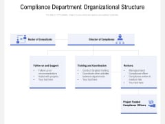 Compliance Department Organizational Structure Ppt Gallery Background Image PDF