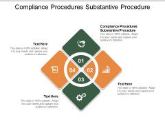 Compliance Procedures Substantive Procedure Ppt PowerPoint Presentation Backgrounds Cpb