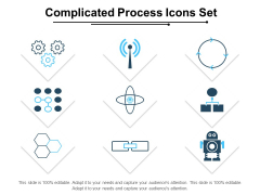 Complicated Process Icons Set Ppt PowerPoint Presentation Gallery Deck PDF