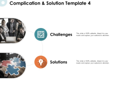 Complication And Solution Strategy Ppt PowerPoint Presentation Graphics