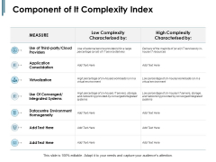 Component Of IT Complexity Index Ppt PowerPoint Presentation Visual Aids
