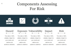 Components Assessing For Risk Ppt PowerPoint Presentation Good