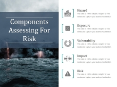 Components Assessing For Risk Ppt PowerPoint Presentation Slide Download