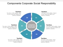 Components Corporate Social Responsibility Ppt PowerPoint Presentation Infographics Background Images