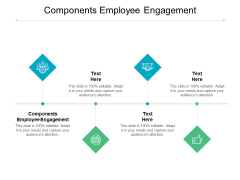 Components Employee Engagement Ppt PowerPoint Presentation Slides Examples Cpb