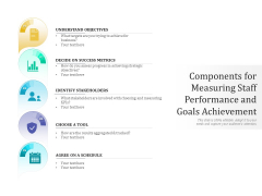 Components For Measuring Staff Performance And Goals Achievement Ppt PowerPoint Presentation Gallery Background Designs PDF