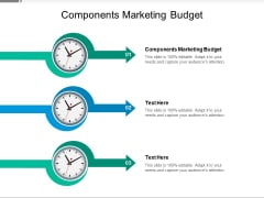 Components Marketing Budget Ppt PowerPoint Presentation Styles Slide Cpb