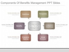 Components Of Benefits Management Ppt Slides
