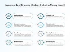 Components Of Financial Strategy Including Money Growth Ppt PowerPoint Presentation Summary Slide Download