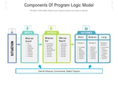Components Of Program Logic Model Ppt PowerPoint Presentation Gallery Graphics PDF