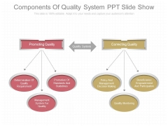 Components Of Quality System Ppt Slide Show