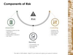 Components Of Risk Ppt Powerpoint Presentation Summary Format Ideas