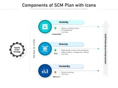 Components Of SCM Plan With Icons Ppt PowerPoint Presentation Infographic Template PDF
