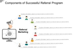 Components Of Successful Referral Program Ppt Powerpoint Presentation Icon Skills