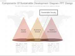 Components Of Sustainable Development Diagram Ppt Design