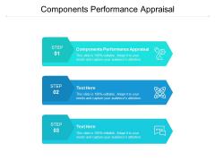 Components Performance Appraisal Ppt PowerPoint Presentation Portfolio Smartart Cpb