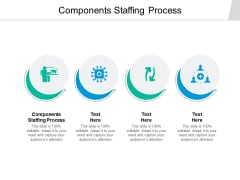 Components Staffing Process Ppt PowerPoint Presentation Ideas Design Templates Cpb
