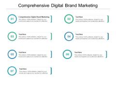 Comprehensive Digital Brand Marketing Ppt PowerPoint Presentation Ideas Tips Cpb
