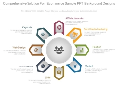 Comprehensive Solution For Ecommerce Sample Ppt Background Designs