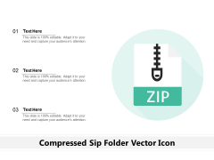 Compressed Sip Folder Vector Icon Ppt PowerPoint Presentation Inspiration Display PDF
