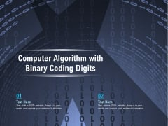 Computer Algorithm With Binary Coding Digits Ppt PowerPoint Presentation File Demonstration PDF