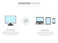 Computer Comparison With Laptop Tablet And Mobile PowerPoint Slides