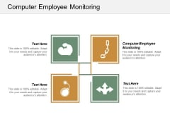 Computer Employee Monitoring Ppt Powerpoint Presentation Icon Master Slide Cpb