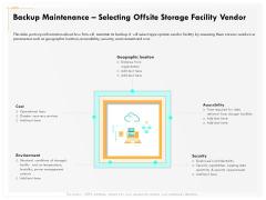 Computer Security Incident Handling Backup Maintenance Selecting Offsite Storage Facility Vendor Guidelines PDF