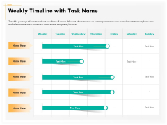 Computer Security Incident Handling Weekly Timeline With Task Name Summary PDF