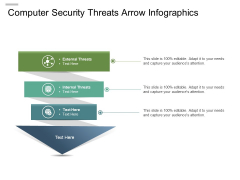 Computer Security Threats Arrow Infographics Ppt PowerPoint Presentation Gallery Background PDF