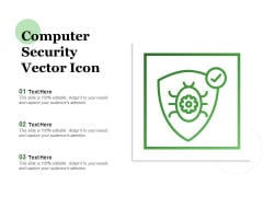 Computer Security Vector Icon Ppt PowerPoint Presentation File Outline PDF