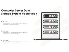 Computer Server Data Storage System Vector Icon Ppt PowerPoint Presentation File Slides PDF
