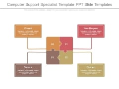 Computer Support Specialist Template Ppt Slide Templates