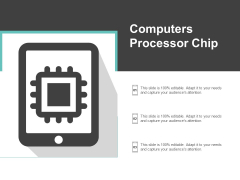 Computers Processor Chip Ppt PowerPoint Presentation Infographics Grid