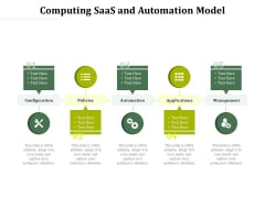 Computing Saas And Automation Model Ppt PowerPoint Presentation Gallery Slides PDF
