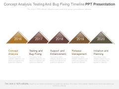 Concept Analysis Testing And Bug Fixing Timeline Ppt Presentation