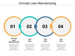 Concept Lean Manufacturing Ppt PowerPoint Presentation Infographic Template Slideshow Cpb