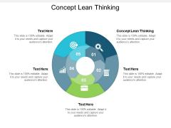 Concept Lean Thinking Ppt PowerPoint Presentation Portfolio Ideas Cpb
