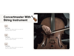 Concertmaster With String Instrument Ppt PowerPoint Presentation Icon Mockup PDF