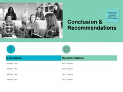Conclusion And Recommendations Checklist Ppt PowerPoint Presentation Icon Topics