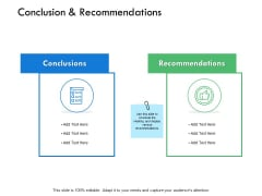 Conclusion And Recommendations Checklist Ppt PowerPoint Presentation Slides Icon