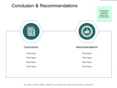 Conclusion And Recommendations Ppt PowerPoint Presentation Icon Good
