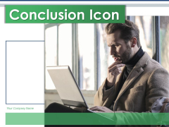 Conclusion Icon Business Operations Planning Ppt PowerPoint Presentation Complete Deck