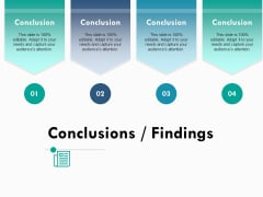 Conclusions Findings Ppt PowerPoint Presentation Infographic Template Demonstration