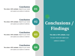 Conclusions Findings Ppt PowerPoint Presentation Infographic Template Graphics Tutorials