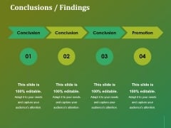 Conclusions Findings Ppt Powerpoint Presentation Model Topics