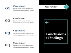Conclusions Fundings Ppt PowerPoint Presentation Infographic Template Slides